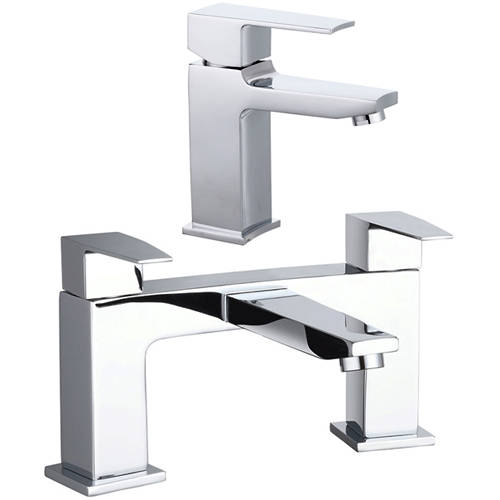 Additional image for Designer Basin & Bath Filler Tap (Chrome).