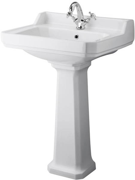 Additional image for Low level Toilet With 600mm Basin & Pedestal (1TH).
