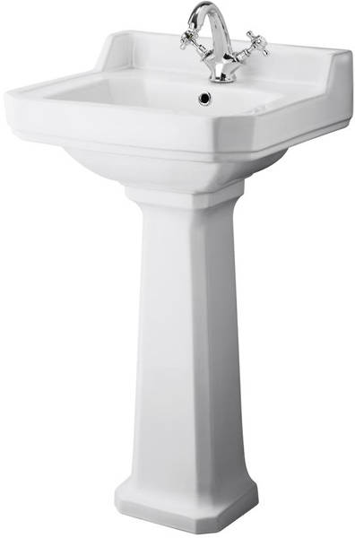 Additional image for High level Toilet With 500mm Basin & Pedestal (1TH).