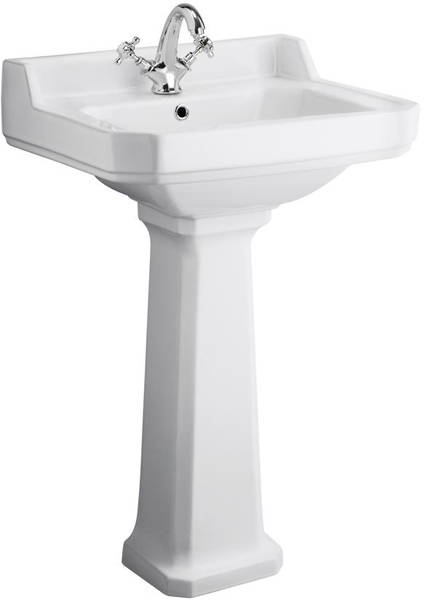 Additional image for High level Toilet With 560mm Basin & Pedestal (1TH).
