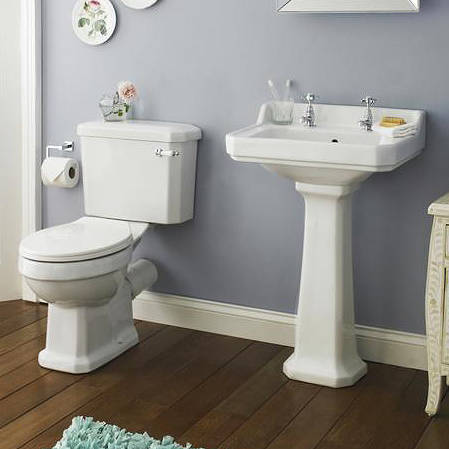 Additional image for Traditional Suite, Toilet, 560mm Basin & Ped (2TH).