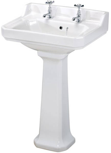 Additional image for Low level Toilet With 600mm Basin & Pedestal (2TH).