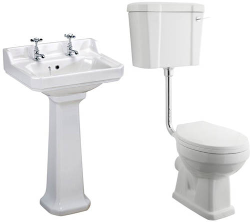 Additional image for Low level Toilet With 560mm Basin & Pedestal (2TH).