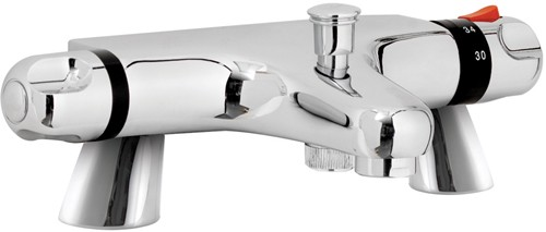 Additional image for Reef Thermostatic Bath Shower Mixer Tap.