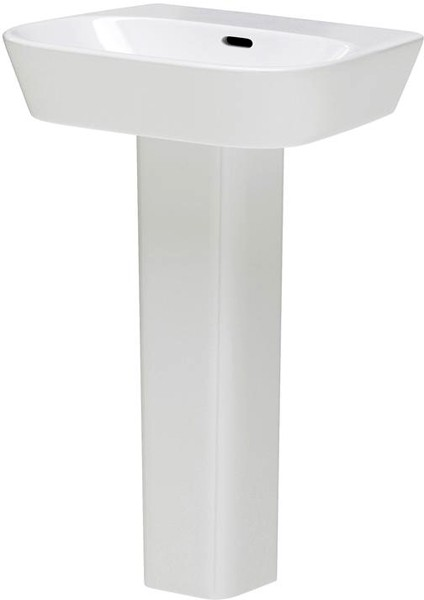 Additional image for Basin & Full Pedestal (1 Tap Hole, 600mm).