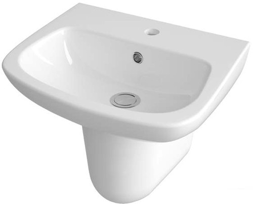Additional image for Basin & Semi Pedestal (1 Tap Hole, 500mm).