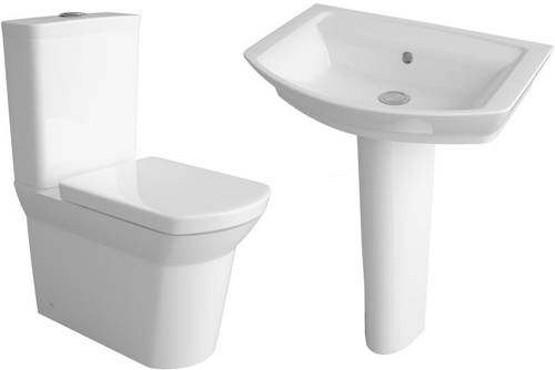 Additional image for Clara Suite With Toilet, 550mm Basin & Full Pedestal.
