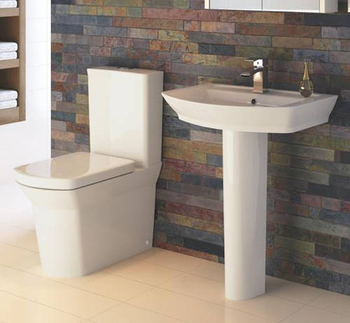 Additional image for Clara Suite With Toilet, 650mm Basin & Full Pedestal.