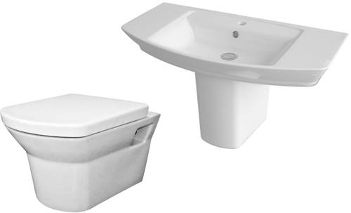 Additional image for Clara Suite With Toilet, 850mm Basin & Semi Pedestal.