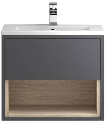 Additional image for 600mm Wall Hung Vanity With 600mm WC Unit & Basin 2 (Grey).