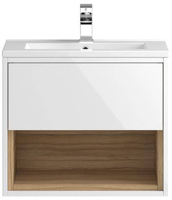 Additional image for 600mm Wall Hung Vanity With 600mm WC Unit & Basin 1 (White).