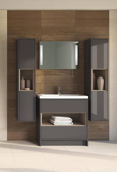 Additional image for 500mm Vanity Unit With 600mm WC Unit & Basin 2 (Grey).