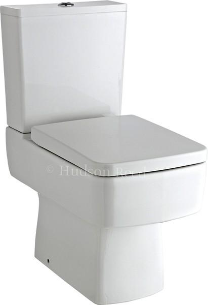 Square Toilet With Dual Push Flush Amp Top Fix Seat Hudson
