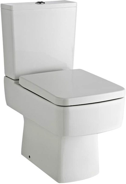 Additional image for Short Projection Toilet Pan With Cistern, Push Flush & Seat.