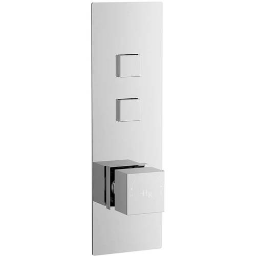 Additional image for Push Button Shower Valve With Square Handle (2 Outlets).