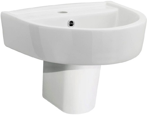 Additional image for Basin & Semi Pedestal (1 Tap Hole, 420mm).