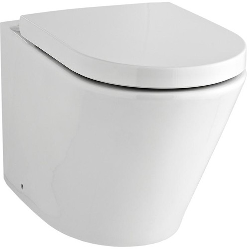 Additional image for Back to Wall Toilet Pan & Luxury Seat (BTW).
