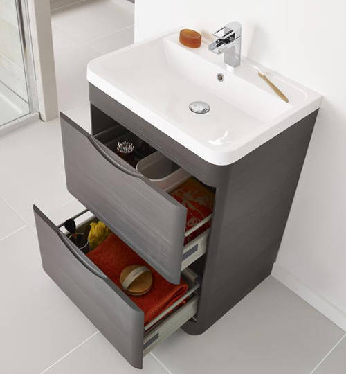 Additional image for 800mm Vanity Unit Pack 2 (Grey Woodgrain).