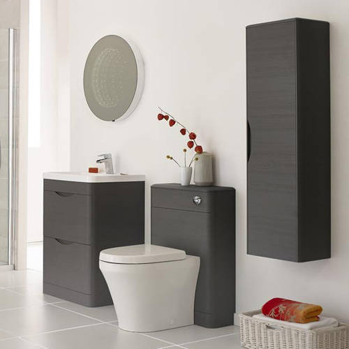 Additional image for 800mm Vanity Unit Pack 4 (Grey Woodgrain).