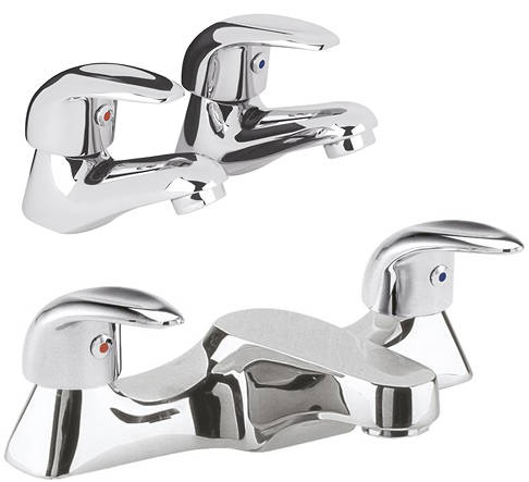 Additional image for Bath Filler & Basin Taps Pack (Chrome).