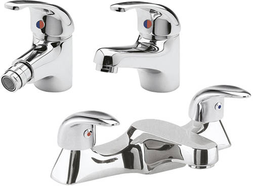 Additional image for Bath Filler, Mono Basin & Bidet Tap Pack (Chrome).