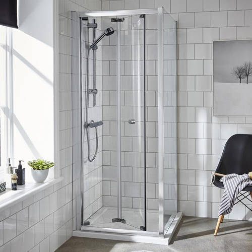 Additional image for Shower Enclosure With Bi-Fold Door (760x760mm).