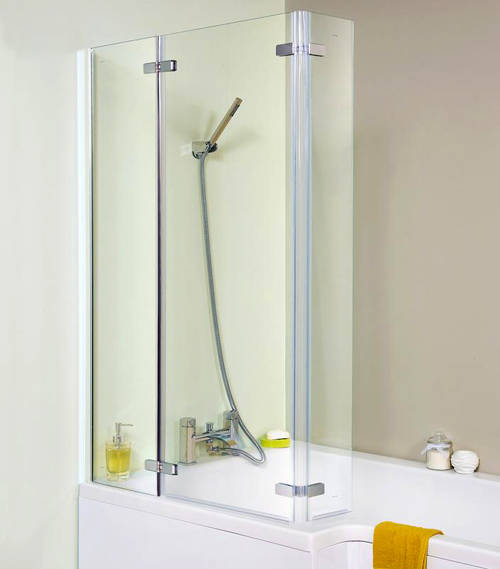 Additional image for Ella Square Shower Bath Screen (1400x800mm).