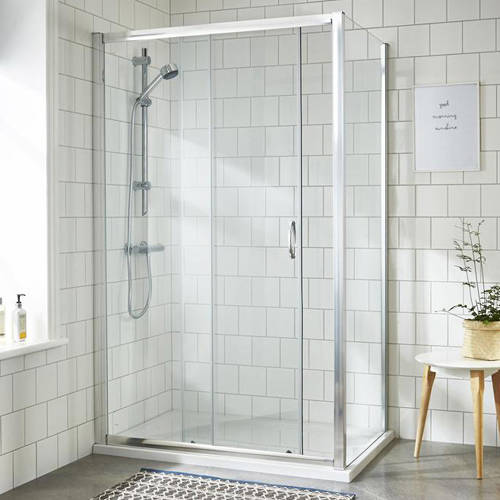 Additional image for Shower Enclosure With Sliding Door (1000x760mm).