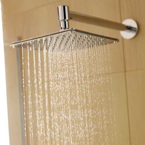 Additional image for Square Shower Head & Wall Mounting Arm. 200x200mm.