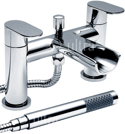Waterfall Bath Shower Mixer Tap With Shower Kit Chrome