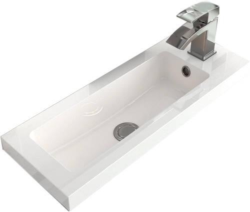 Additional image for Floor Standing Vanity Unit & Basin (400mm, Cashmere).
