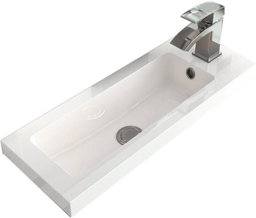 Additional image for Floor Standing Vanity Unit & Basin (600mm, Cashmere).