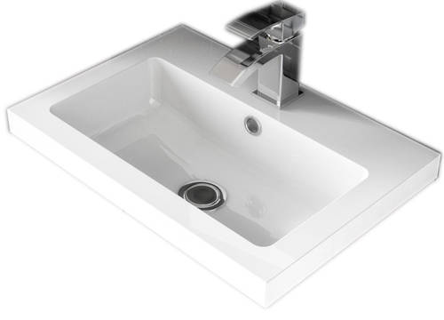 Additional image for Wall Hung Vanity Unit & Basin (400mm, Cashmere).