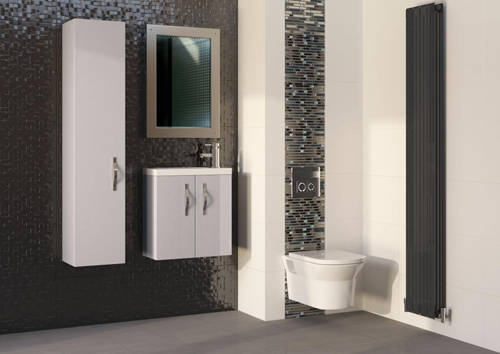 Additional image for Wall Hung Tall Storage Unit (300mm, Cashmere).