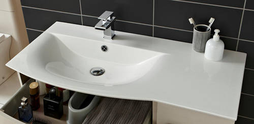 Additional image for Wall Hung 1000mm Cabinet & Basin LH (Cashmere).