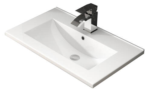Additional image for Floor Standing 800mm Vanity Unit & Basin Type 2 (Grey Gloss).