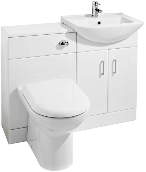 Additional image for Madison Furniture Pack With Basin, Pan & Seat (White).