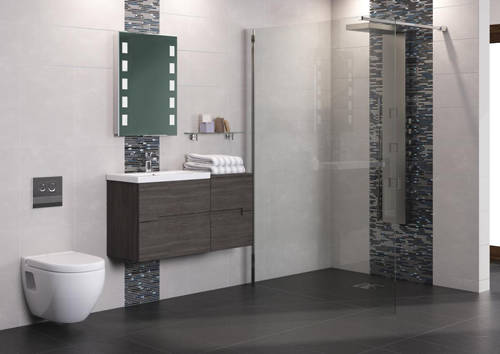 Additional image for Wall Hung 500mm Vanity Unit & Basin Type 2 (Grey Avola).