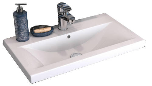 Additional image for Wall Hung 800mm Vanity Unit & Basin Type 1 (Cashmere).