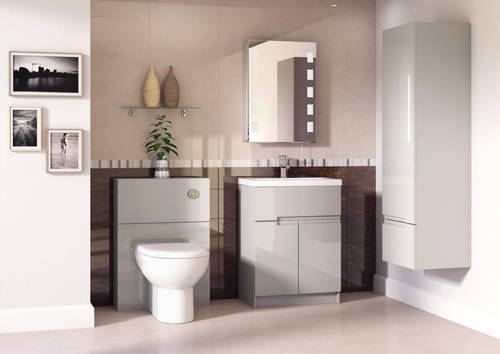 Additional image for Floor Standing 600mm Vanity Unit & Basin Type 2 (Cashmere).