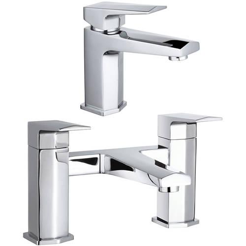 Additional image for Designer Basin & Bath Filler Tap (Chrome).