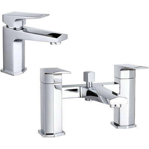 Additional image for Designer Basin & Bath Shower Mixer Tap With Kit.