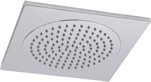 Additional image for Square Ceiling Tile Fixed Shower Head. 370x370mm.