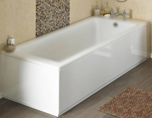 Additional image for Side & End Bath Panel Pack (Gloss White, 1800x800).