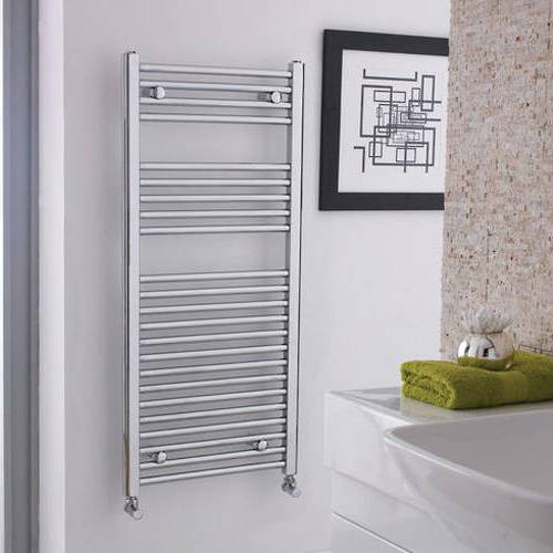 Additional image for Ladder Towel Radiator H1100 x W500 (Straight, Chrome).