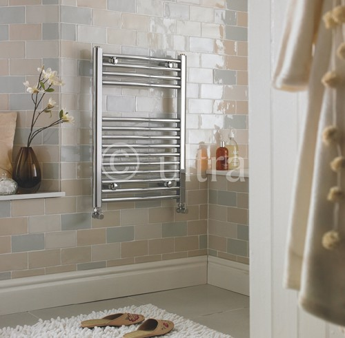 Additional image for Ladder Towel Radiator H700 x W500 (Curved, Chrome).