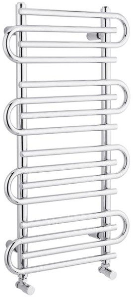 Additional image for Twisted Towel Radiator. 900x510 (Chrome).