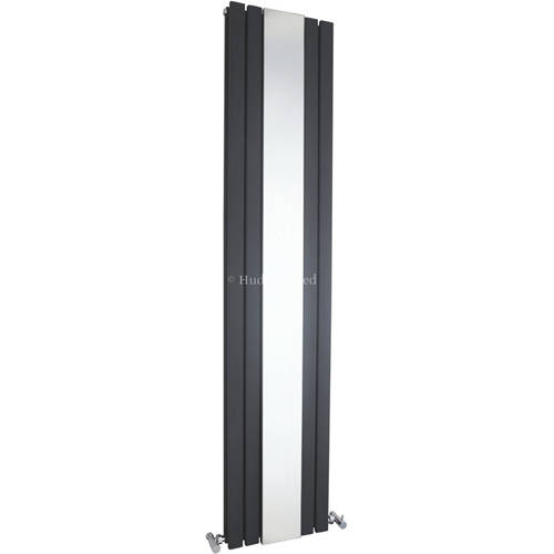 Additional image for Sloane Mirror Radiator (Anthracite). 381x1800mm.