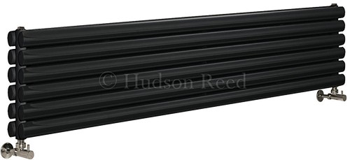 Additional image for Revive Radiator (Black). 1500x354mm. 3926 BTU.