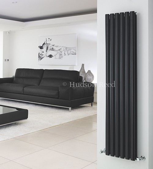 Additional image for Revive Radiator (Black). 354x1800mm. 5786 BTU.